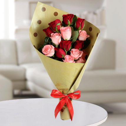 Beautiful Mixed Roses Bunch: