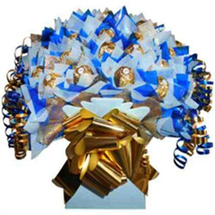 Blue Ferrero Rocher Bouquet Love: