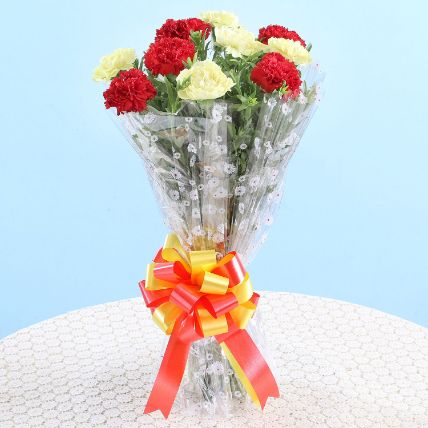 Bunch Of Red Yellow Carnations: