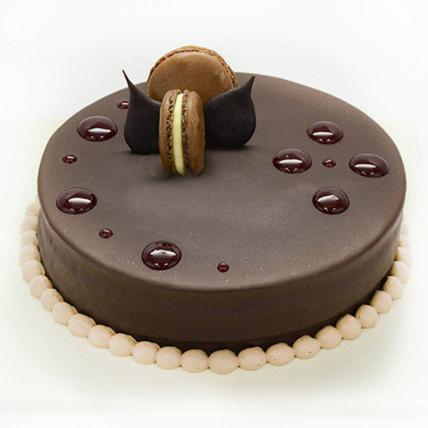 Dark Chocolate Ganache Cake: