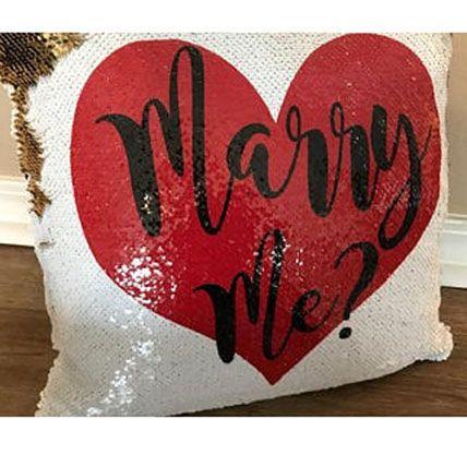 Marry Me Printed Mermaid Cushion: