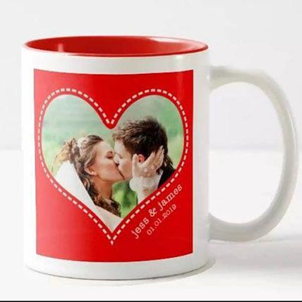 Romantic Personalized Mug: Personalised Anniversary Gifts