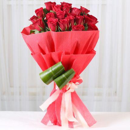 Romantic Red Roses Bouquet:
