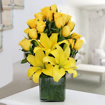 Sunshine Delight Vase Arrangement: