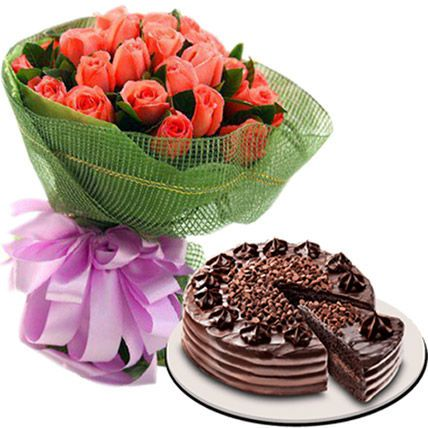 The Dainty Love Combo: Flower N Cakes For Anniversary
