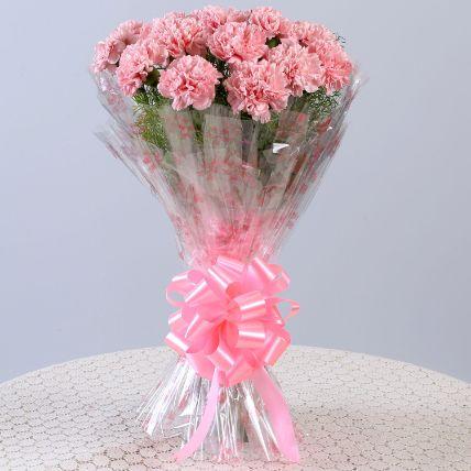 Unending Love 18 Light Pink Carnations Bouquet: Bestsellers Gifts
