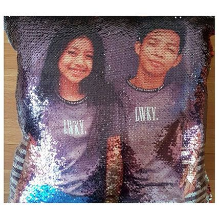 Cute Couple Personalized Mermaid Cushion