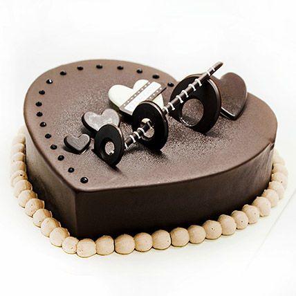Dark Chocolate Art Deco Cake