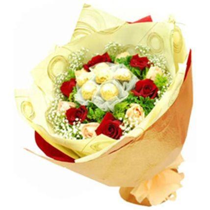 Ferrero And Flower Bouquet