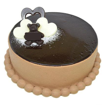 Mirror Glazed Chocolate Chiffon Cake