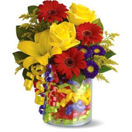 Playful Flower Arrangement