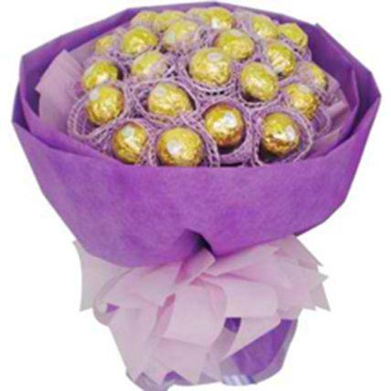 Purple Ferrero Rocher Bunch