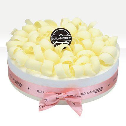 White Curls Vanilla Chiffon Cake